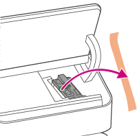 Remove packing tape from the ink carriage