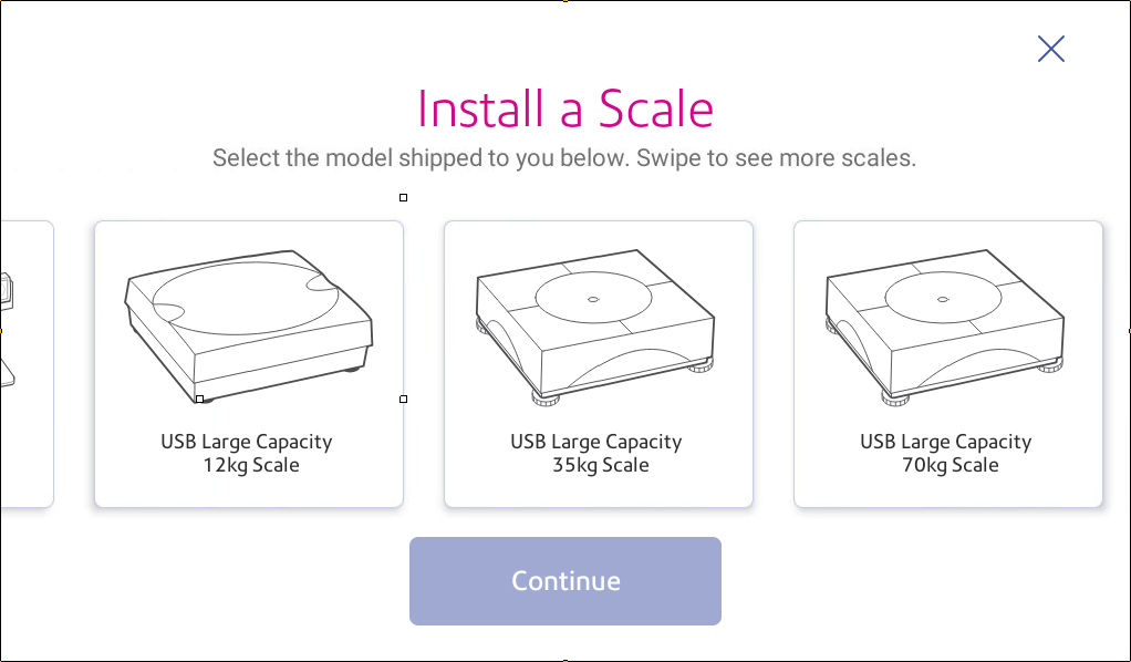 Install scale options
