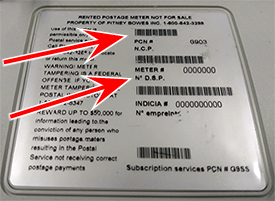 dm300-475 sticker with serial number and pcn