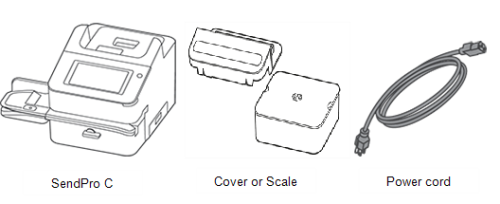 SendPro C, cover or scale and power cord