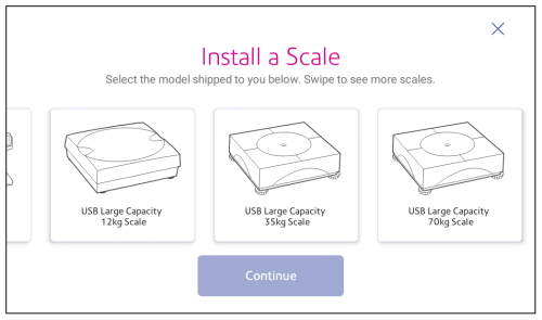 Installing a scale