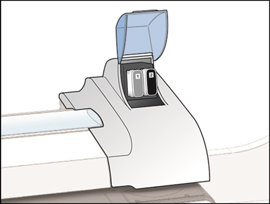 Image showing the ink cartridge cover open