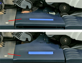 Incorrect alignment of moistener pad assembly