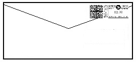 Date correction on the back of the envelope using tape