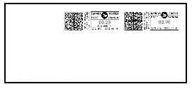 Postage correction to the side of original impression