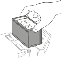 Ink cartridge being removed