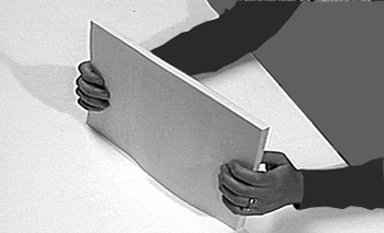 Image showing sheets being aligned