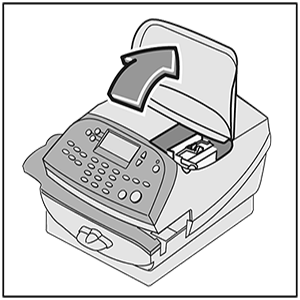 Image showing DM100 to DM400 with ink cartridge cover open