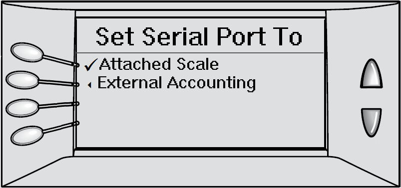 DM300-DM475 Set Serial Port To Attached Scale