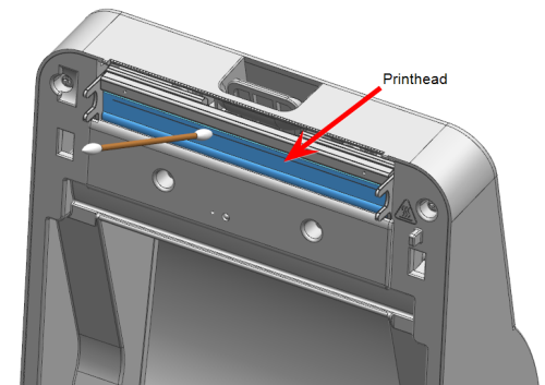 Cleaning the printhead on the PB-SP100 printer