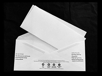 material envelopes crooked