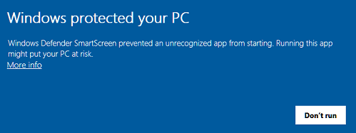 Business Manager Remote Services Rename patch - Windows warning