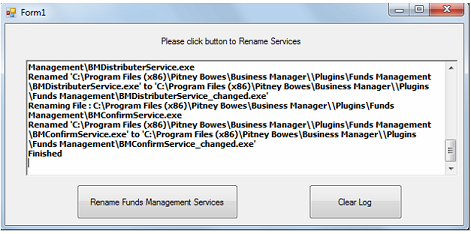 Business Manager Remote Services Rename patch - patch successful