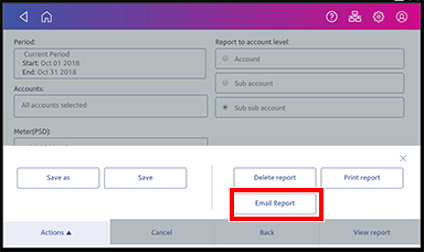 Manage accounts, email a report