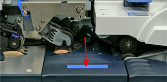 Moistener pad assembly button