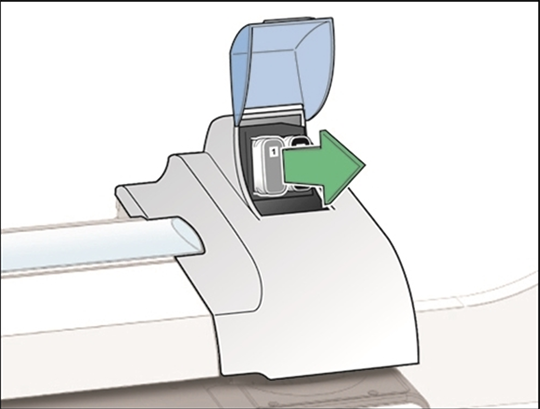 Image showing the ink cartridge being removed