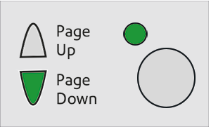 Image showing the LED button lit with a Green light