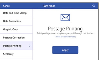 postage-mode-screen