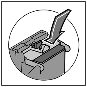 Image showing DM100 to DM400 with ink cartridge latch closed