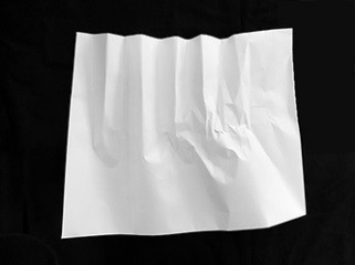 envelopes with crunched folds
